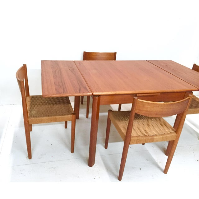 1960s Danish Mid-Century Modern Teak Dining Set - Image 4 of 11