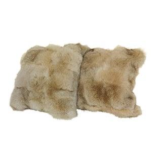 Fox & Italian Cashmere Pillows - A Pair For Sale