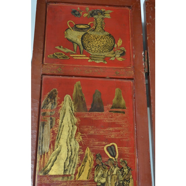 Asian 19th Century Chinoiserie Screen For Sale - Image 3 of 9