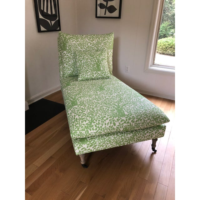 Arbre De Matisse Fabric Classic Chaise For Sale In Columbus - Image 6 of 6