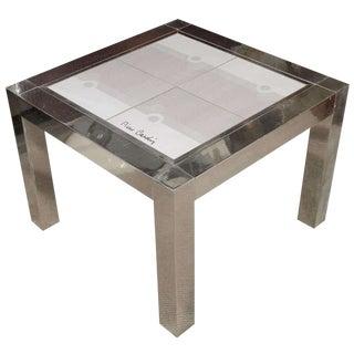 Pierre Cardin Ceramic Top Table For Sale