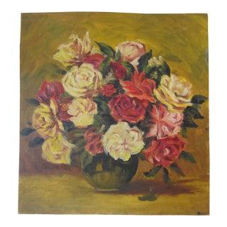 Rose Flowers Still Life Oil Painting