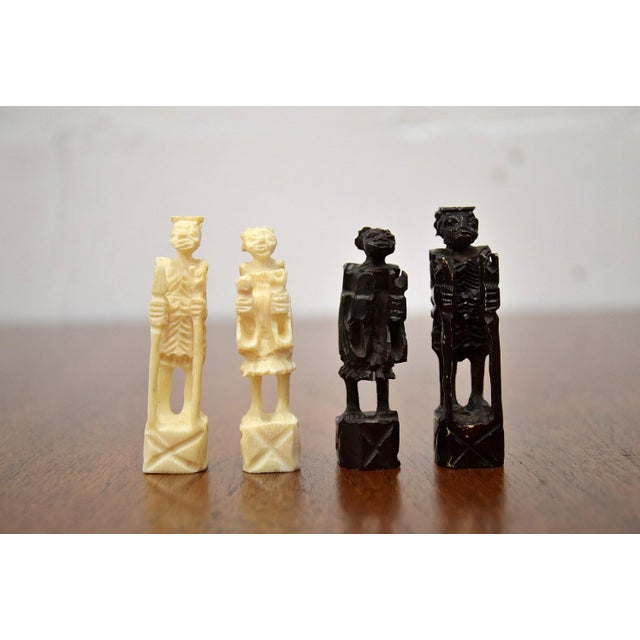 1930s 1930 Belgian Congo Ivory Chess Set For Sale - Image 5 of 10