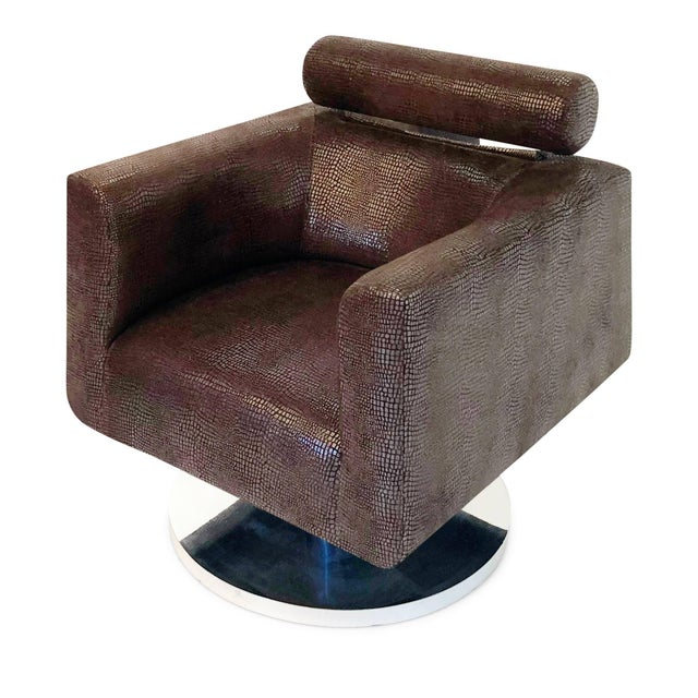 """Luigi Gentile """"Gigi"""" Swivel Lounge Chair for Couture For Sale In Los Angeles - Image 6 of 10"""