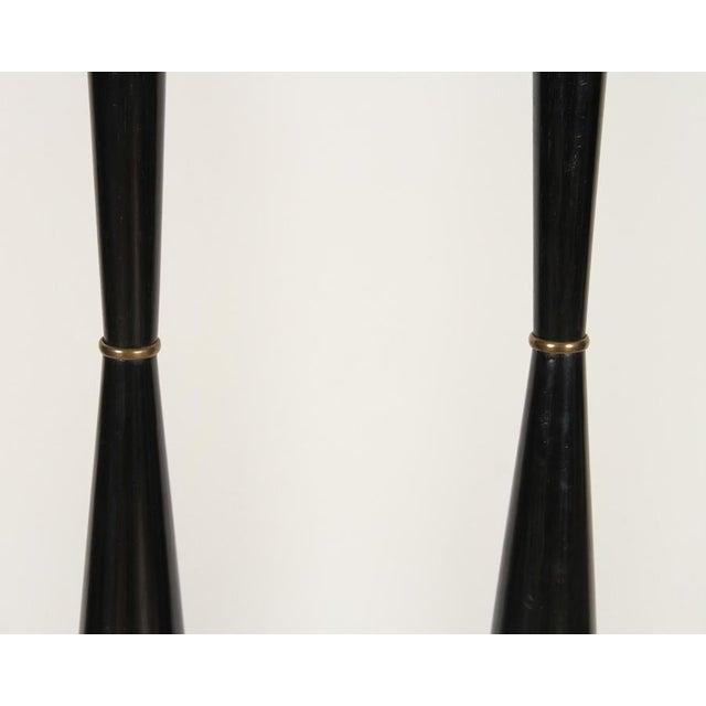 1970s Italian Ebonized Wood Floor Lamps For Sale - Image 5 of 10