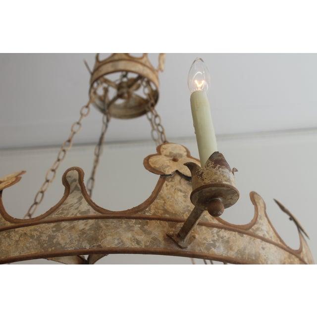 Handmade & Hand Painted Crown Chandelier - Image 6 of 6