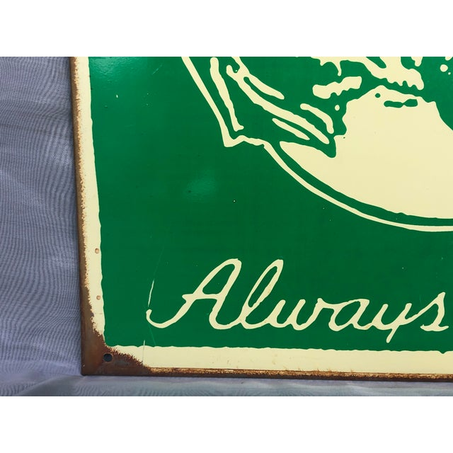 1990s Marty Mummert Distressed Metal Wall Sign For Sale In New York - Image 6 of 13