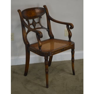 Theodore Alexander Regency Style Cane Seat Armchair Preview