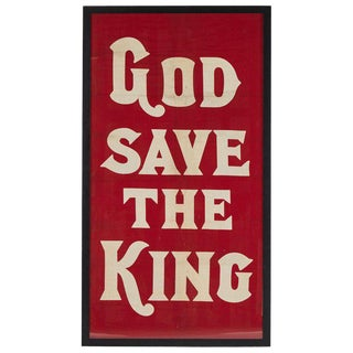 "Coronation Flag ""God Save the King"" for King Edward For Sale"