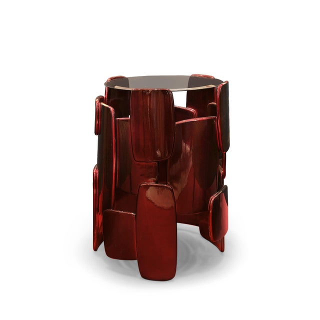Modern Goroka Side Table From Covet Paris For Sale - Image 3 of 3