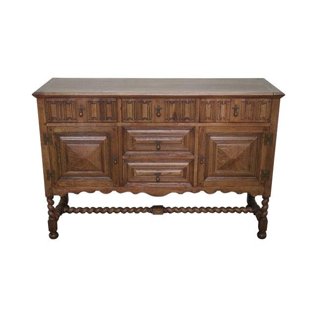 Jonathan Charles Tudor Oak Sideboard Cabinet - Image 1 of 10