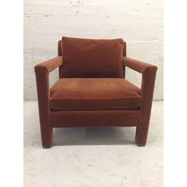 Pair of Milo Baughman Lounge Chairs in Mohair - Image 2 of 5