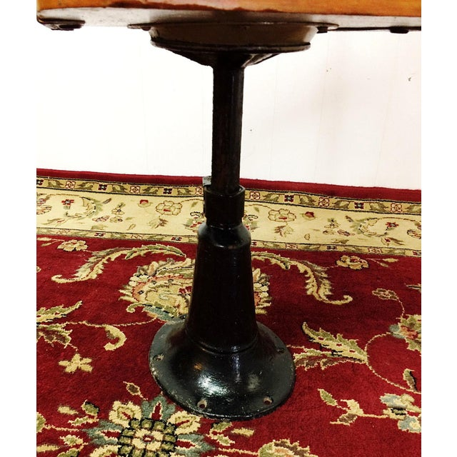Brown Antique American Seating Cast Iron Student School Desk & Chair For Sale - Image 8 of 10
