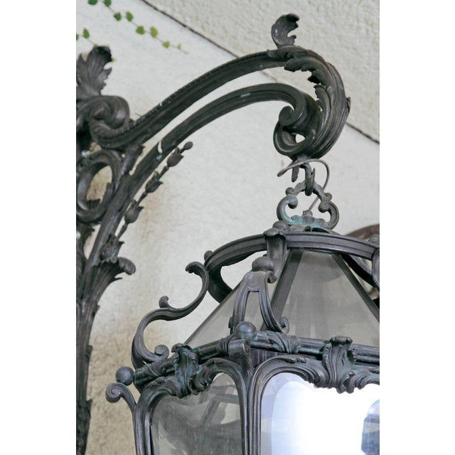 Pair of Monumental Louis XV Style Bronze Gas Lanterns For Sale - Image 9 of 11