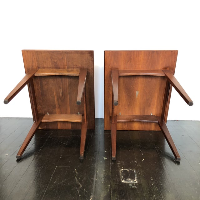 Jens Risom Walnut Side Tables - a Pair For Sale In San Antonio - Image 6 of 13