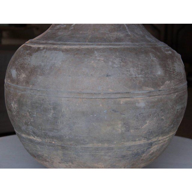 Asian Large Chinese Han Dynasty Period Unglazed Vase as Table Lamp For Sale - Image 3 of 9