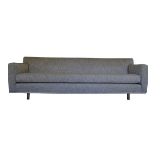 Vintage Mid Century Edward Wormley Style Curved Back Sofa For Sale