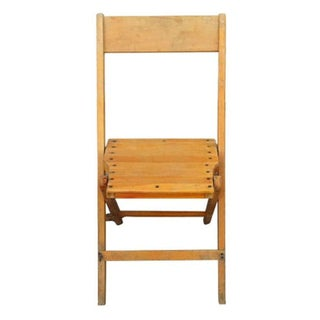 Vintage Wood Folding Chairs - Set of 6
