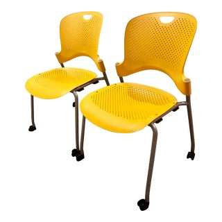 Herman Miller Modern Yellow Caper Chairs- a Pair For Sale