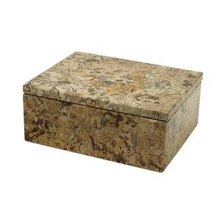 Tan Marble Keepsake Box For Sale