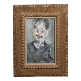 Paolo Vallorz Portrait of an Old Man of Mignardot, Oil on Canvas Dated 1954
