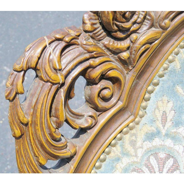 Pair of Victorian Style Carved Bergeres - Image 4 of 8