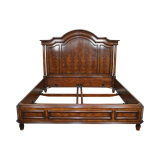 Theodore Alexander King Size Regency Style Mahogany High Back Bed