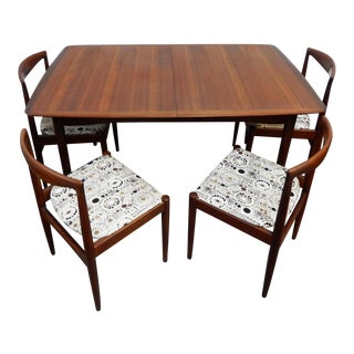 1960s Mid-Century Modern Arne Vodder for Vamo Sonderborg Teak Dining Set - 5 Pieces For Sale