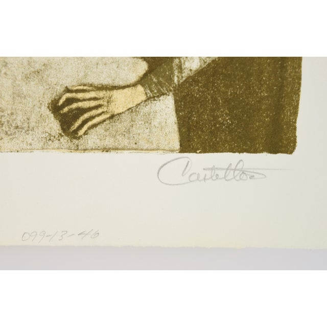 """Federico Castellon the Giddiest Grew Pale """"Mask of the Red Death"""" by Poe Lithograph For Sale - Image 10 of 12"""