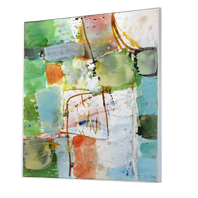 """Abstract Original """"View"""" Artwork by Greet Helsen For Sale In Los Angeles - Image 6 of 10"""
