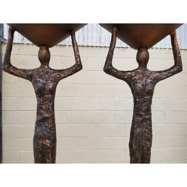 Figurative Alberto Giacometti Style Figural Floor Lamps - a Pair For Sale - Image 3 of 13