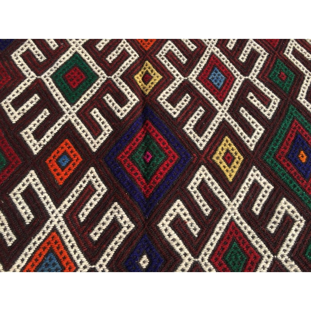 Vintage Turkish Kilim Rug- 7′1″ × 9′10″ - Image 6 of 10