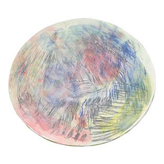 1990s Vintage Abstract Decorative Plate For Sale