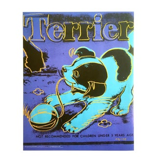 "Andy Warhol Foundation Vintage Pop Art Poster Print "" Mechanical Terrier "" 1983 For Sale"