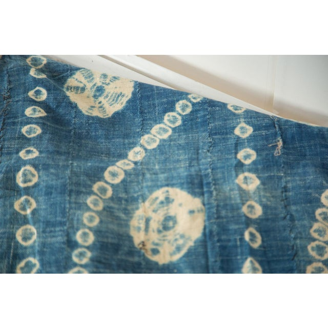 """Vintage African Textile Throw - 3'2"""" X 5'7"""" - Image 4 of 5"""