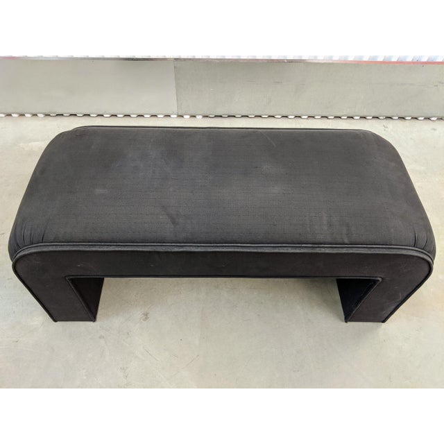 1990s Modern Upholstered Waterfall Bench For Sale In Chicago - Image 6 of 9