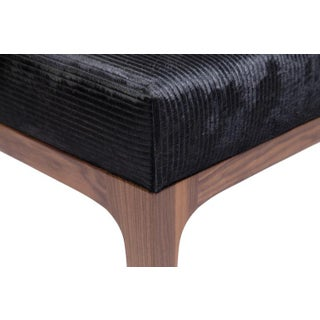 The Raphael Ottoman in Walnut & Cowhide Seat Cushion Preview