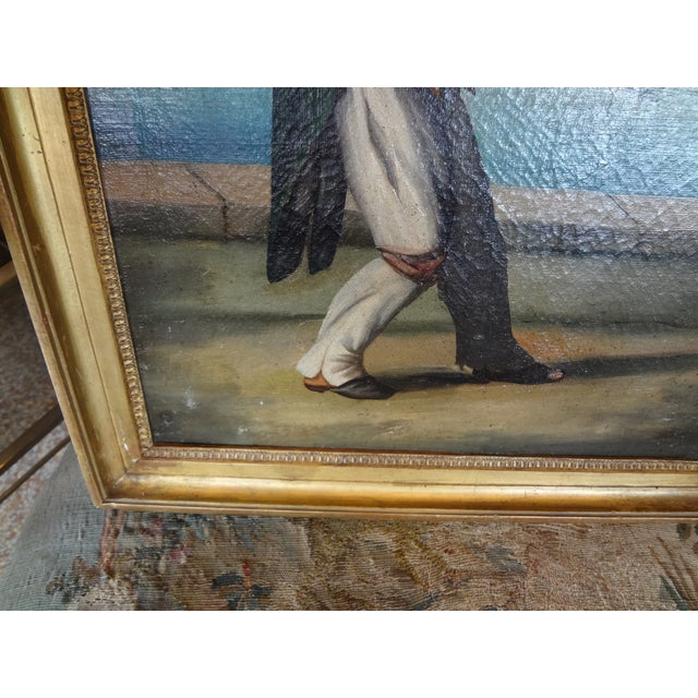 Blue 19th Century Italian Painting For Sale - Image 8 of 11