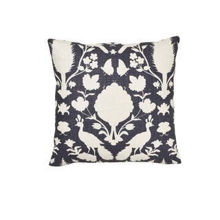 Schumacher Chenonceau Pillow in Charcoal For Sale