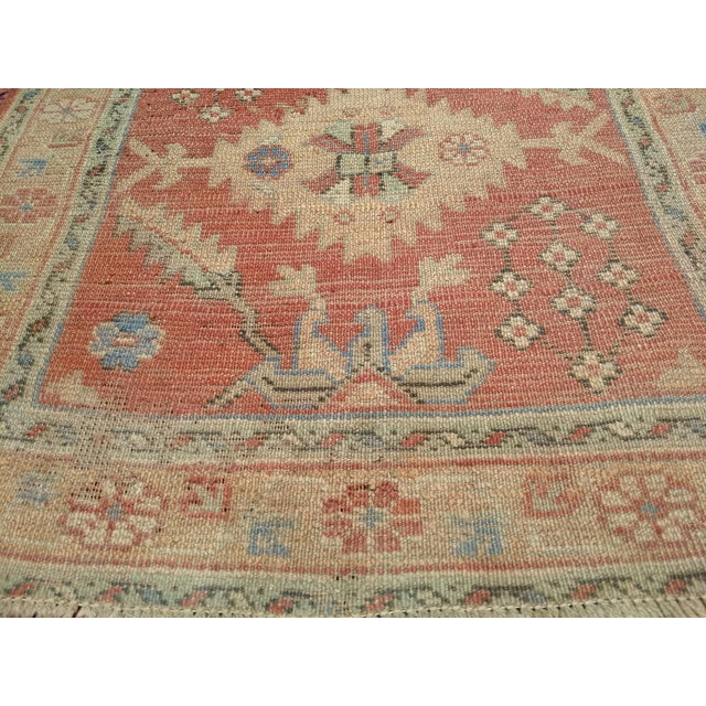 """Late 18th Century Late 1800s Turkish Oushak Runner- 3' 5"""" X 14' 5"""" For Sale - Image 5 of 13"""