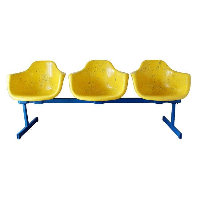 Vintage Krueger Mid Century Modern Metal Sculptural 3 Seat Tandem Bench For Sale - Image 9 of 9