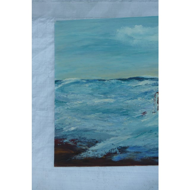 MCM Painting of Turbulent Waves h.l. Musgrave - Image 3 of 6