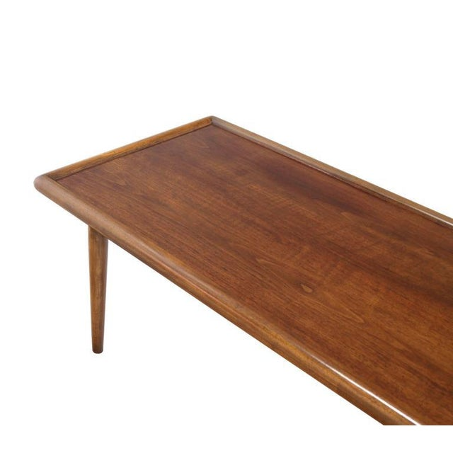Early 20th Century Robsjohn Gibbings for Widdicomb Walnut Coffee Table For Sale - Image 5 of 7