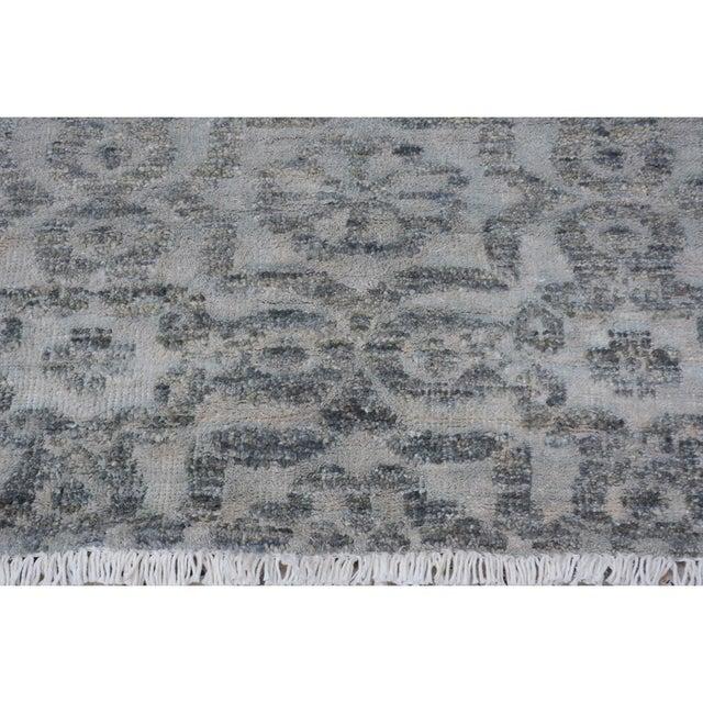 "Kafkaz Peshawar Rosalia Gray/Gray Wool & Viscouse Rug - 3'11"" X 5'9"" For Sale In New York - Image 6 of 8"