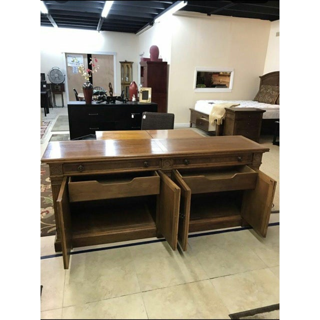 Heritage Heritage Grand Tour Rustic Solid Wood Buffet Server For Sale - Image 4 of 6