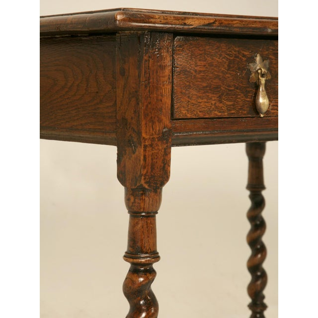 English Country Style Writing Desk or End Table circa 1700s For Sale -  Image 10 of - Lovely English Country Style Writing Desk Or End Table Circa 1700s