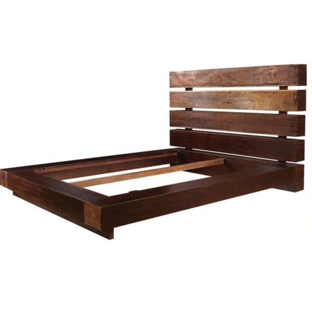 Reclaimed Queen Platform Bed by Four Hands For Sale