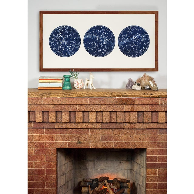 """""""Capricorn Press"""" Celestial Print With 3 Constellation Maps For Sale In Los Angeles - Image 6 of 7"""