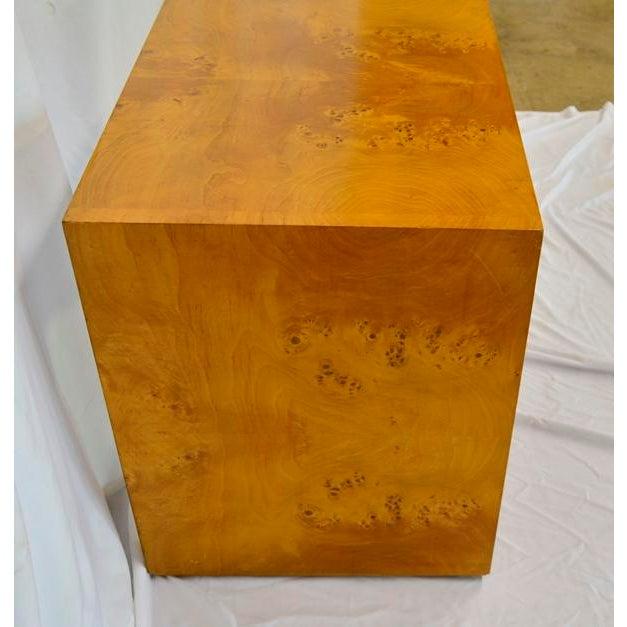 Mid-Century Modern 1960s Mid Century Modern Olive Burlwood Side Table For Sale - Image 3 of 8