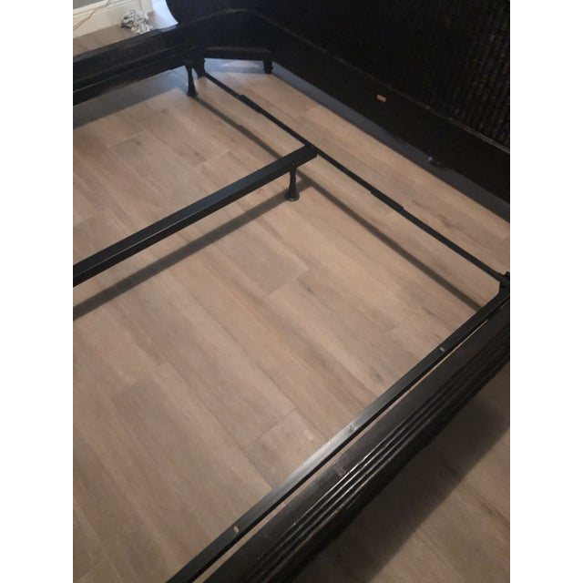 Country Ralph Lauren King-Sized Wicker and Wood Bedframe For Sale - Image 10 of 13